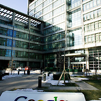 BEJING, JAN.-13: the Google offices  in Beijing. .Google announced on Tuesday that it would consider to withdraw from the Chinese market.