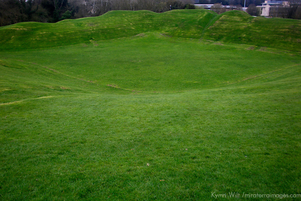 Europe, Great Britain, England, Cirencester. Corinium's Roman amphitheater, an English Heritage Site.