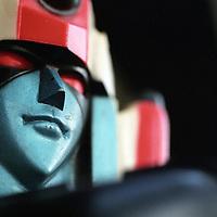 Close-up of Mattell toy Shogun Warrior Daimos.