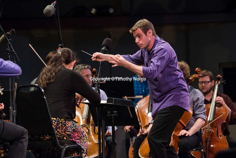 "Joshua Gersen conducts the MMDG Music Ensemble in Lou Harrison's ""Suite for Symphonic Strings"" at Libbey Bowl on June 8, 2013 in Ojai, California."