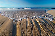 Wave, Sand Striations, New York, Quogue
