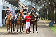 Jodie Kidd and her brother Jack at the launch of the World Polo Series at the Hurlingham Club in London.