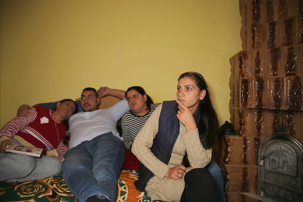 From left to right, Razvan's mum, Razvan, Adela and Ribenna (Razvan's sisters).