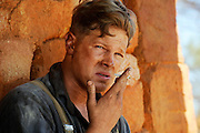Actor Luke Ford (Snowy Rowles) - 'Blood In The Sand' - on location Mt Magnet, Western Australia - Still photograph by David Dare Parker