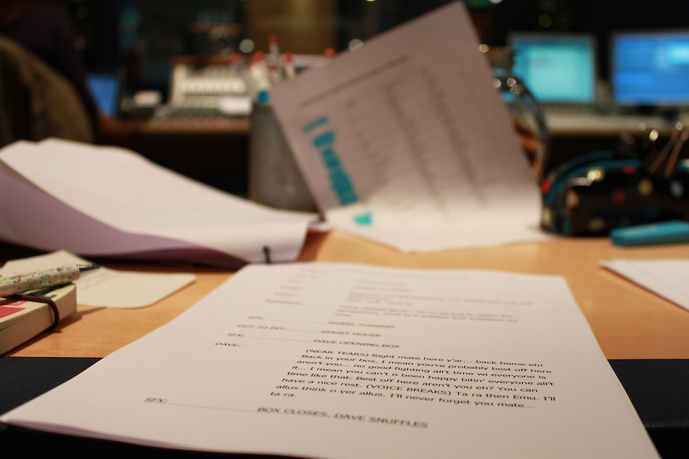 Behind-the-scenes of the recording of BBC Radio 4's Shedtown, by Woolyback Productions.<br /> Directed by Tony Pitts, starring Warren Brown, Debra Stephenson, Stephen Mangan, Rosina Carbone, Shaun Keaveny.