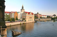 Along The Vltava River from The Charles Bridge, Prague, Czech Republic