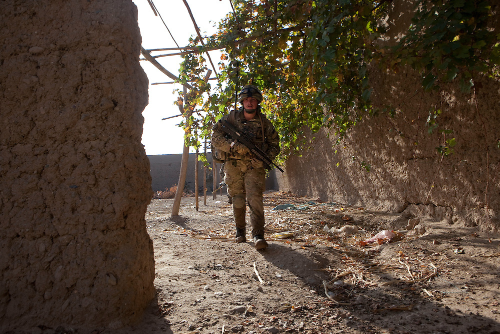Soldiers from B Coy 3 Scots joined the men of 1PWRR (Princess of Wales's Royal Regiment) in an ongoing series of Operations called Tora Pishaw aimed at disrupting insurgent activity in their AO (Area of Operations. Loya Manda, Nad e Ali North, Helmand Province, Afghanistan on the 11th of November 2011.
