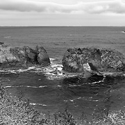 Arch Rock - Oregon Coast - HDR - Black & White