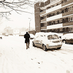 Caught this image on a snowy day in South East London