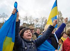 FEB 21 2014 Ukrainian Protest, Parliament Square, London