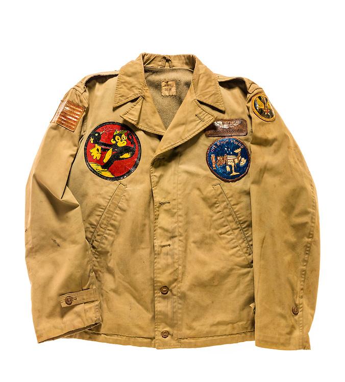 M-41 field jacket worn by B-17 pilot Warren W. Swenson, who was born April 14, 1921 in Sister Bay, Wisconsin