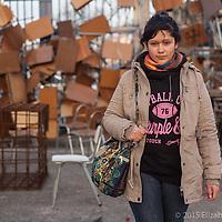 Estudiante de la USACH (Universidad de Santiago de Chile) durante la toma de la escuela en Julio 2013. Esa noche la universidad fué desalojada por las fuerzas públicas, lo que dió pié a una nueva marcha multitudinaria.