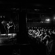 LANCASTER, PA - OCTOBER 2: A packed crowd enjoys the music as Phillip Roebuck performs at The Chameleon Club on Thursday, Oct. 2, 2014 in Lancaster, Penn. Roebuck opened up for The Devil Makes Three for two nights on their tour. (Photo by Jay Westcott/Zuma Press)