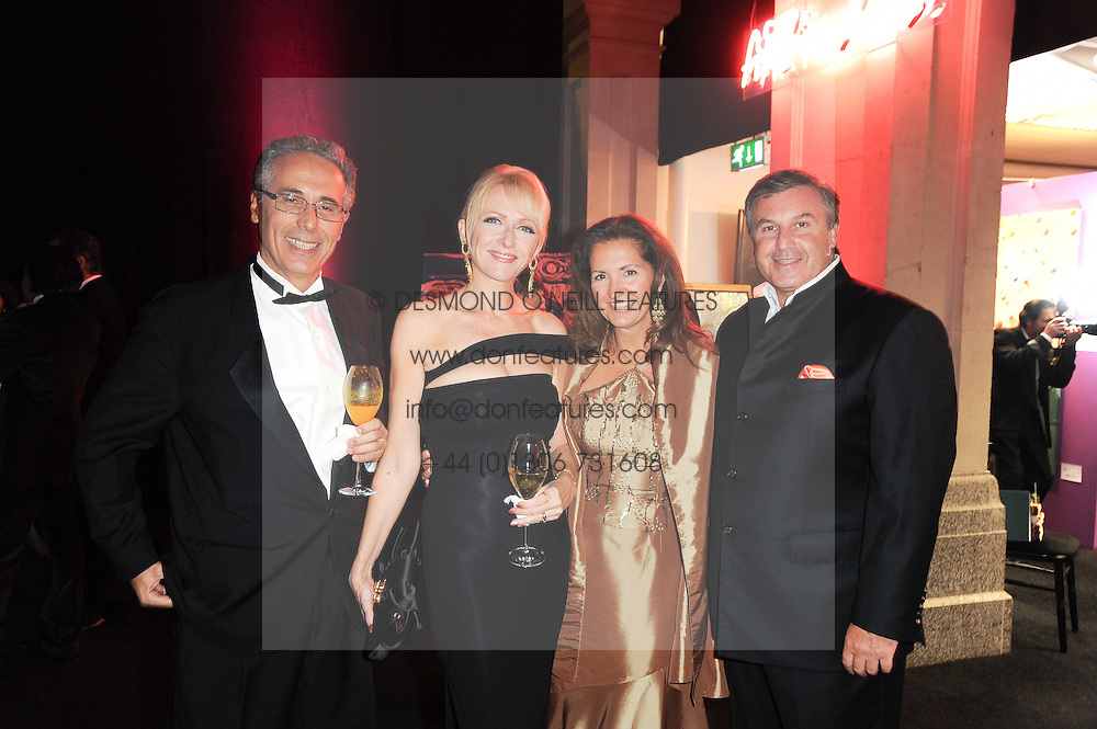 Left to right, MICHELE &amp; ELIZABETH DI STEFANO and MICHAEL &amp; NADINE HUTTMAN at ARTiculate, Pratham UK Fundraising Gala held at The Old Billingsgate Market, City Of London on  11th September 2010 *** Local Caption *** Image free to use for 1 year from image capture date as long as image is used in context with story the image was taken.  If in doubt contact us - info@donfeatures.com<br /> Left to right, MICHELE &amp; ELIZABETH DI STEFANO and MICHAEL &amp; NADINE HUTTMAN at ARTiculate, Pratham UK Fundraising Gala held at The Old Billingsgate Market, City Of London on  11th September 2010