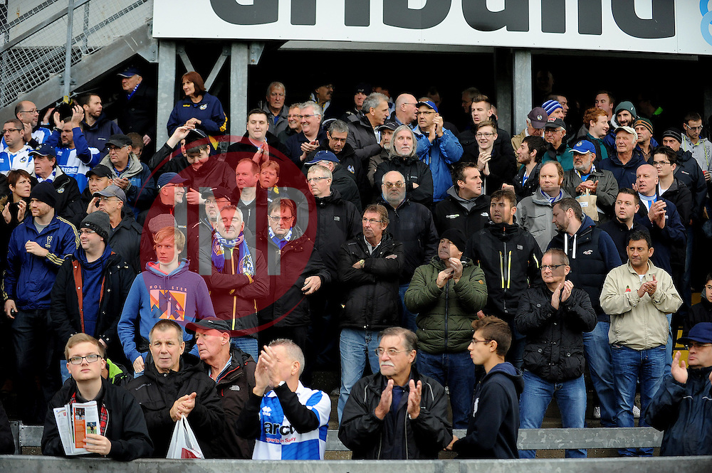 Bristol Rovers fans - Mandatory byline: Neil Brookman/JMP - 07966 386802 - 24/10/2015 - FOOTBALL - Memorial Stadium - Bristol, England - Bristol Rovers v Newport County AFC - Sky Bet League Two