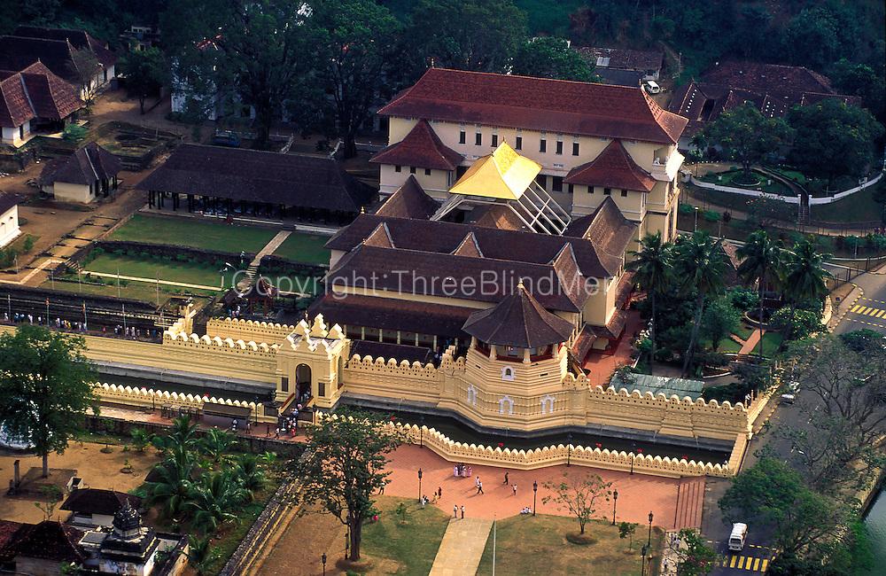 Sri Lanka..The Dalada Maligawa in 1992. Kandy.