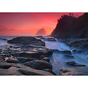 Cape Kiwanda - Haystack And Tide Pools - Oregon Coast - Sunset