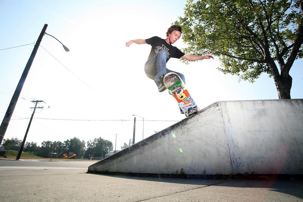 Skateboarder Will Ingram in Anchorage, Alaska. 2009
