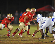 Lafayette High's Eli Johnson (75) vs. Senatobia in Oxford, Miss. on Friday, October 19, 2012. Lafayette High won 23-7.