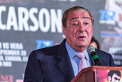 LOS ANGELES, California/USA (Friday, Aug 23 2013) - Top Rank president Bob Arum addresses the media during the press conference at the Millenium Biltmore Hotel to announce the Chavez jr vs Vera fight next September 28 at the StubHub Center in Carson, CA. Los Angeles,CA USA. 29th August 2013. Fees must be agreed for image use. Byline, credit, TV usage, web usage or linkback must read: © SILVEXPHOTO.COM.