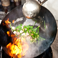 Stir frying at Imbi market
