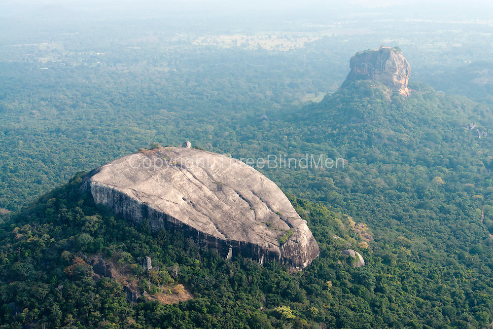 Sigiriya - the rock and the pleasure gardens.