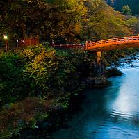 Bridge in Nikko Japan at autumn day