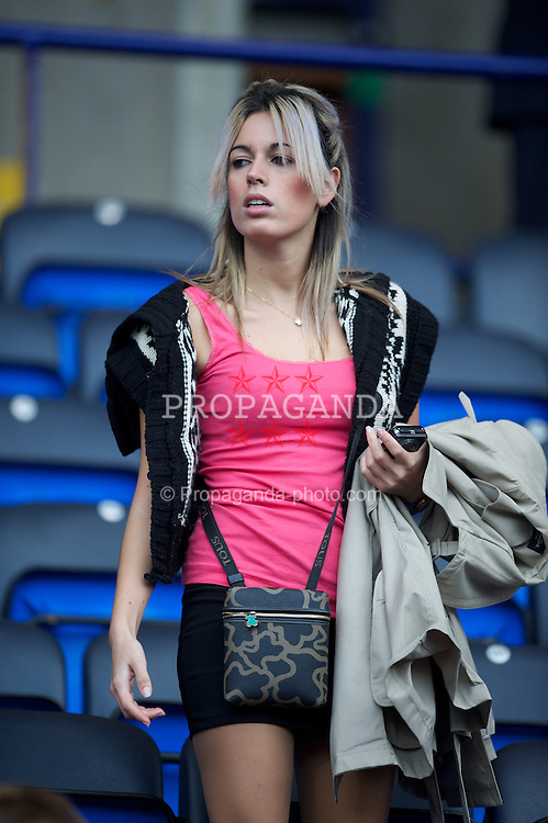 BOLTON, ENGLAND - Sunday, October 31, 2010: A woman sitting in the Friends & Family seats during the Premiership match between Bolton Wanderers and Liverpool at the Reebok Stadium. (Pic by: David Rawcliffe/Propaganda)