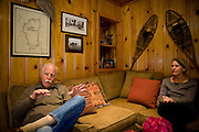 Ron, left, and Sally Grassi in their Tahoe City, Calif. home May 13, 2010. Grassi is suing the big three ratings agencies after he lost $40,000 on a Lehman Brothers bond.