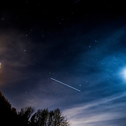 International Space Station over the Wallace Monument in Stirling