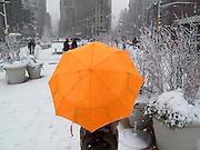 Umbrellas USA New York Winter Schnee Regenschirm Schirm Wetter Regenwetter Schneematsch QF; From the series Umbrellas WerbungPR Sacharchiv.