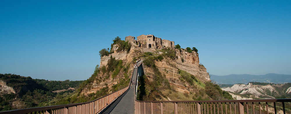 Sitting atop a pinnacle of rock in the middle of a vast canyon, Civita di Bagnoregio is truly a sight that will be remembered.