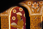 Painting on the entrance corridor of the Temple of the Tooth or Dalada Maligawa in Kandy.