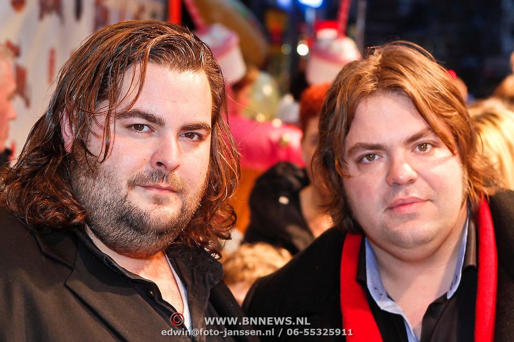 NLD/Amsterdam/20101114 - Premiere kinderfilm Dik Trom, Frank Evenblij en broer Stephan