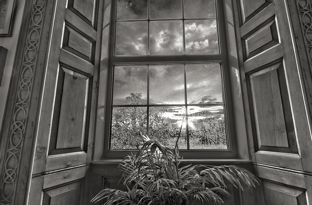 View looking through window of georgian farmhouse ben for Georgian farmhouse interiors