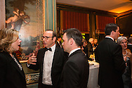Actress Christine Baranski, left, talks with actor Kevin Spacey at the Bloomberg Vanity Fair White House Correspondents' Association dinner afterparty at the residence of the French Ambassador on Saturday, April 28, 2012 in Washington, DC. Brendan Hoffman for the New York Times