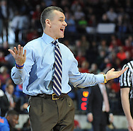 "Florida coach Bill Donovan reacts against Mississippi at the C.M. ""Tad"" Smith Coliseum in Oxford, Miss. on Saturday, February 22, 2014. (AP Photo/Oxford Eagle, Bruce Newman)"
