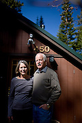 Sally, left, and Ron Grassi pose for a portrait outside their Tahoe City, Calif. home May 13, 2010. Grassi is suing the big three ratings agencies after he lost $40,000 on a Lehman Brothers bond.