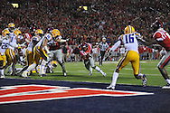 Mississippi running back Jaylen Walton (6) scores on a two yard run vs. LSU at Vaught-Hemingway Stadium in Oxford, Miss. on Saturday, October 19, 2013. Mississippi won 27-24. (AP Photo/Oxford Eagle, Bruce Newman)