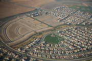 Aerial views of unfinished housing subdivisions on the outskirts of Sacramento, California. California, and especially Sacramento, have been hard hit by the housing and financial crisis.