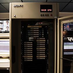 Visite de l'Institut National de l'Audiovisuel (INA). Bry-Sur-Marne, France. 7 janvier 2010. Photo : Antoine Doyen pour Challenges. Tous droits reserves.