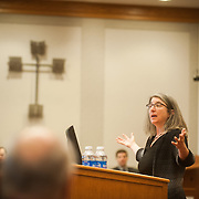 The Annual Quackenbush Lecture featuring Cindy Cohn of the Electronic Frontier Foundation. (Photo by Gonzaga University)