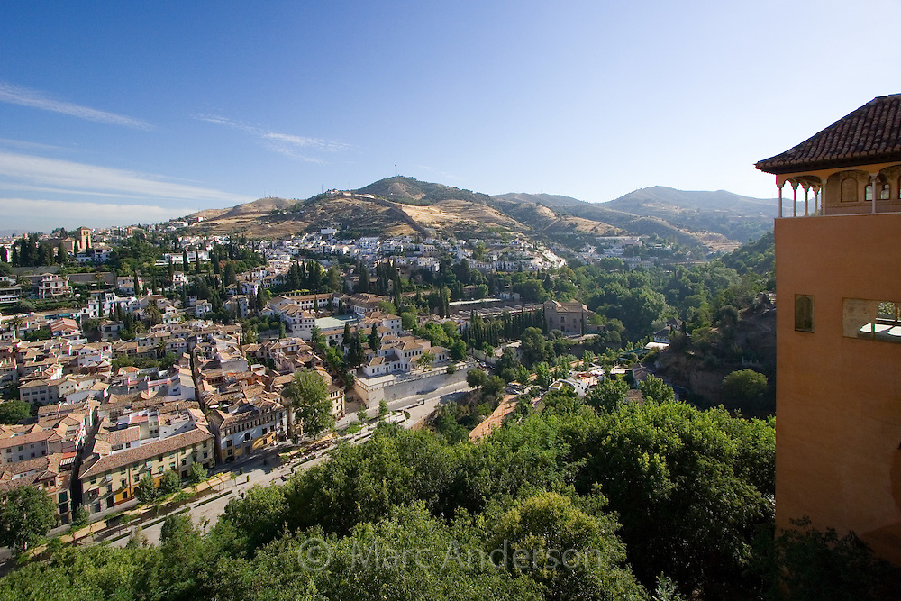View of Granada from the Alhambra Palace, Granada, Spain