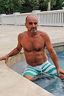 Jake Rajs - Self Portait, Swimming Pool. East Hampton, NY