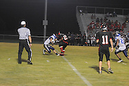 Water Valley's Adam Langham (12) makes a tackle vs. Independence in high school football action in Independence, Miss. on Friday, August 19, 2011. Water Valley won 42-0.