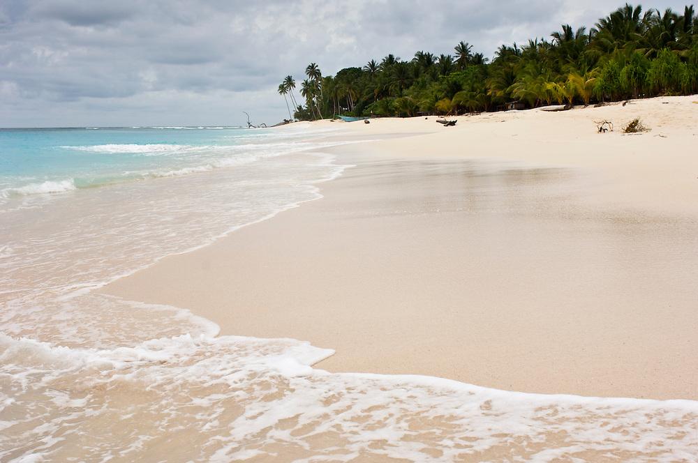 Pristine beach on a remote island, Rurbas, West Papua, Indonesia.