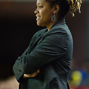11/17/11 Newark DE: Penn State head coach Coquese Washington during a NCAA Women's College basketball game, Thursday, Nov. 17, 2011 at the Bob carpenter center in Newark Delaware...Delaware defeat The Lady Nittany Lions of Penn State 80-71, behind Elena Delle Donne 40 point scoring effort...Special to The News Journal/SAQUAN STIMPSON