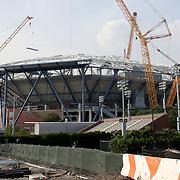 Arthur Ashe Stadium Roof Construction New York