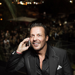 VIP Room club owner jean roch at his opening night of the 63rd Cannes Film Festival. France. 12 May 2010. Photo: Antoine Doyen