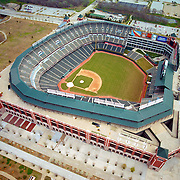 Aerial  view of the  Texas Rangers Ballpark in Arlington, Texas,  2010 American league champions,   as seen in May 2000.  2011 World Series Baseball
